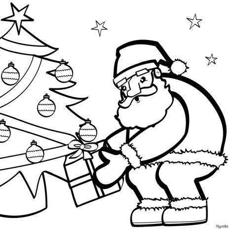 Santa Colouring Pages 30