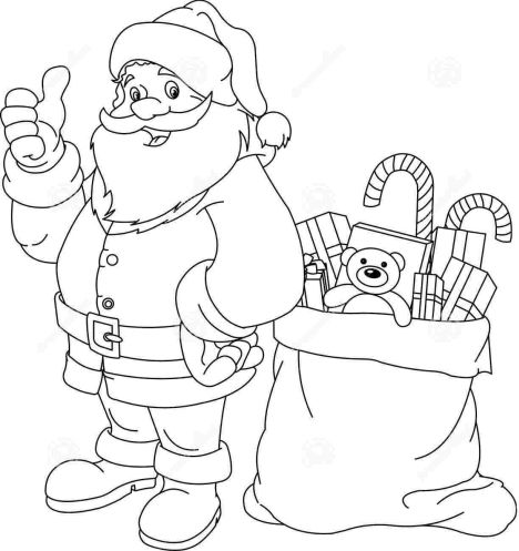Santa Colouring Pages 31