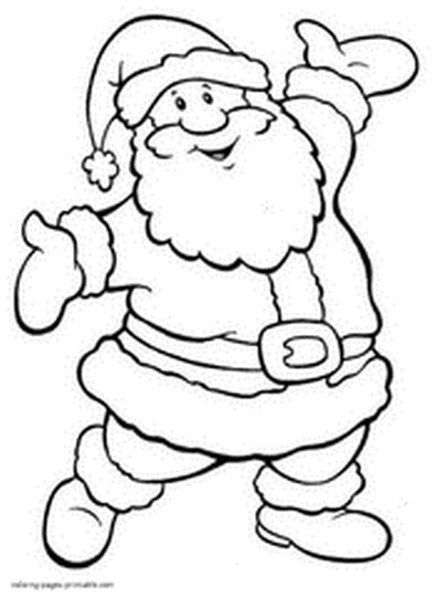 Santa Colouring Pages 33