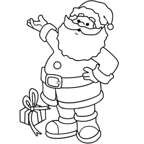 Santa Colouring Pages 34
