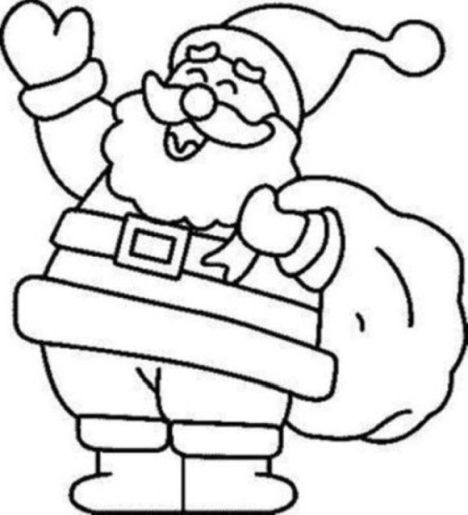 Santa Colouring Pages 35