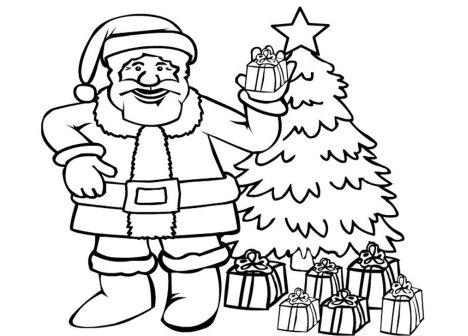 Santa Colouring Pages 38