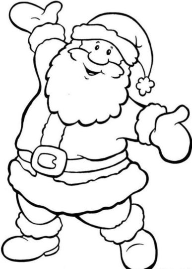 Santa Colouring Pages 4