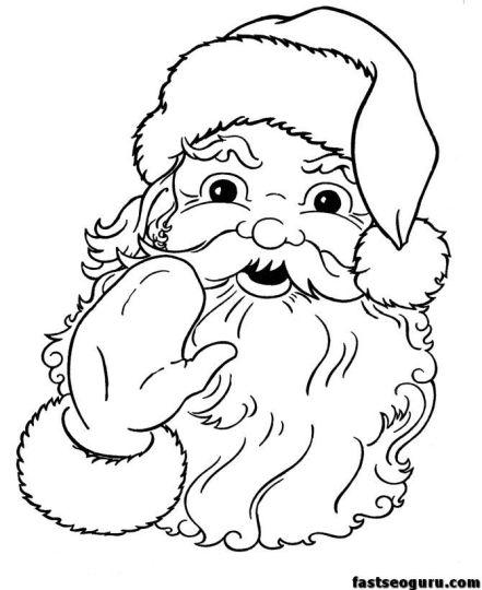 Santa Colouring Pages 42