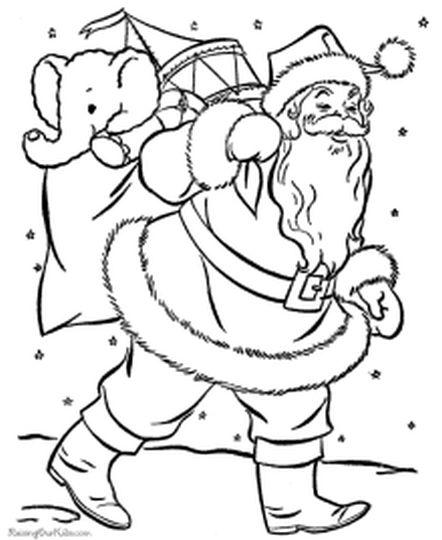Santa Colouring Pages 43