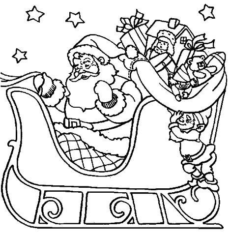 Santa Colouring Pages 44