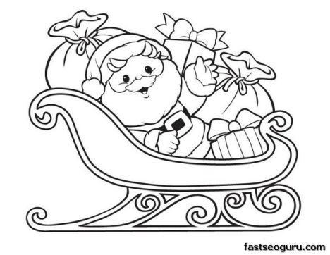Santa Colouring Pages 47