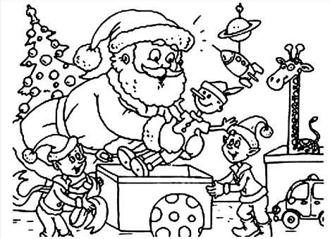 Santa Colouring Pages 48