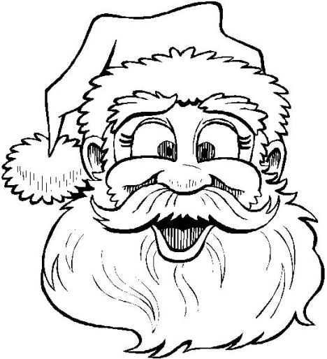 Santa Colouring Pages 5