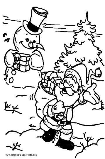 Santa Colouring Pages 51