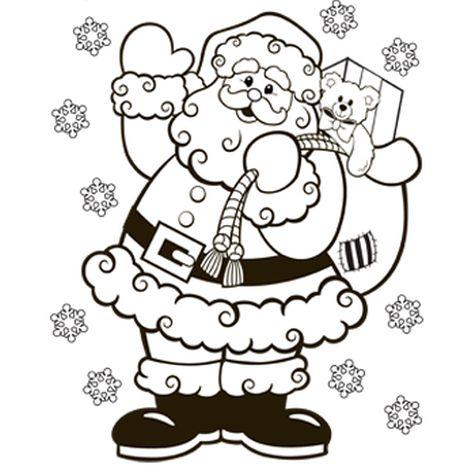 Santa Colouring Pages 52