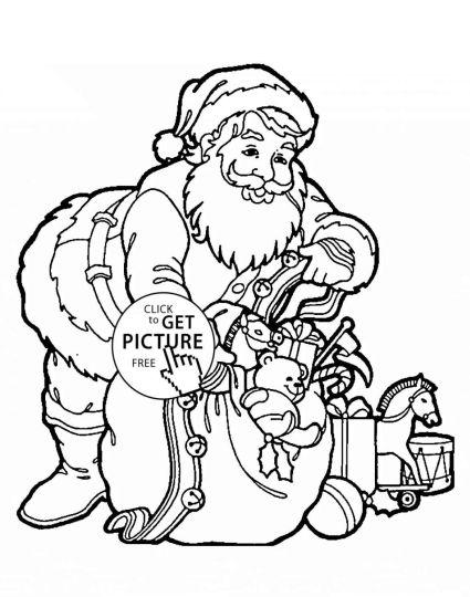 Santa Colouring Pages 55