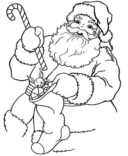 Santa Colouring Pages 56