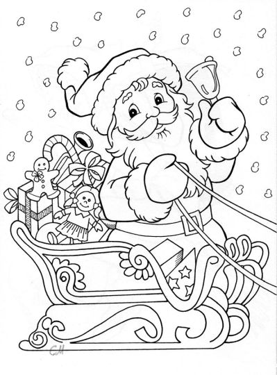 Santa Colouring Pages 60