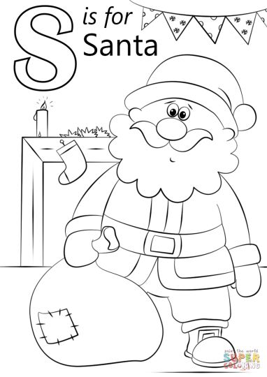 Santa Colouring Pages 7