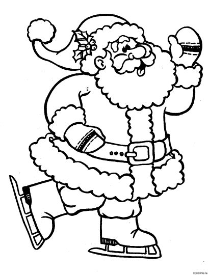 Santa Colouring Pages 8