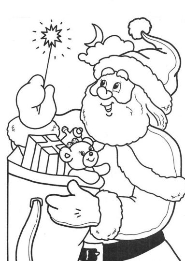 Santa Colouring Pages 9