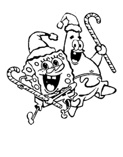 Spongebob Christmas Coloring Pages 10