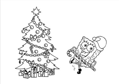 Spongebob Christmas Coloring Pages 12