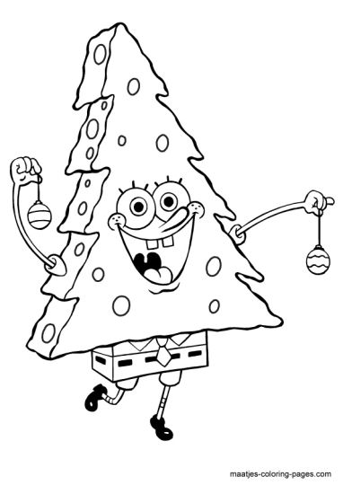 Spongebob Christmas Coloring Pages 14