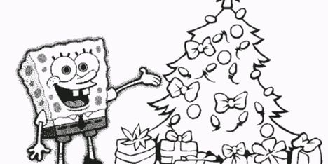 Spongebob Christmas Coloring Pages 16