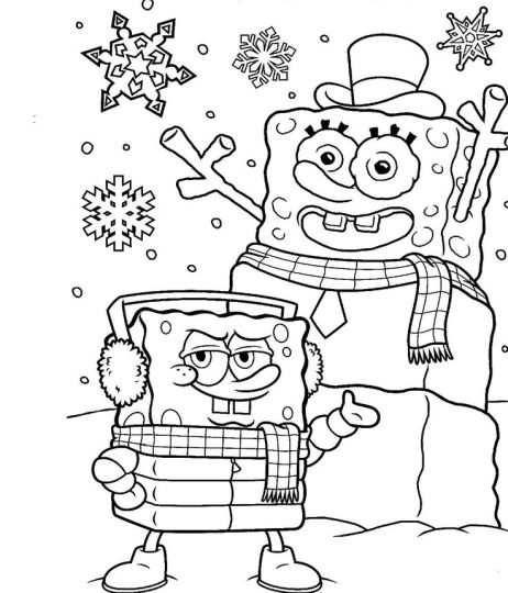 Spongebob Christmas Coloring Pages 18