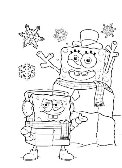 Spongebob Christmas Coloring Pages 20