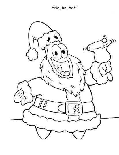 Spongebob Christmas Coloring Pages 28