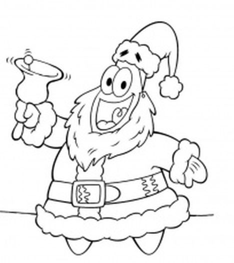 Spongebob Christmas Coloring Pages 3