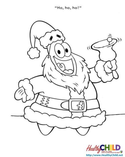 Spongebob Christmas Coloring Pages 31