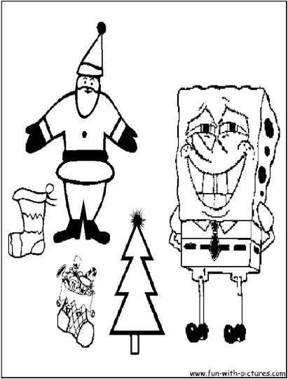 Spongebob Christmas Coloring Pages 36