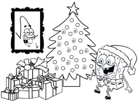 Spongebob Christmas Coloring Pages 49