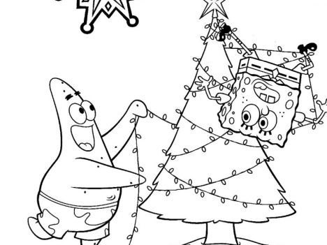 Spongebob Christmas Coloring Pages 53