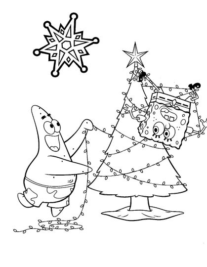 Spongebob Christmas Coloring Pages 54