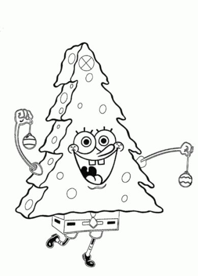 Spongebob Christmas Coloring Pages 56