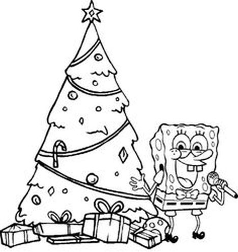 Spongebob Christmas Coloring Pages 6