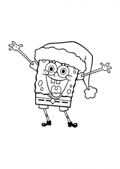 Spongebob Christmas Coloring Pages 62