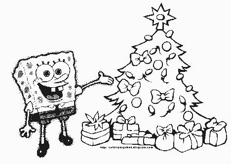 Spongebob Christmas Coloring Pages 67