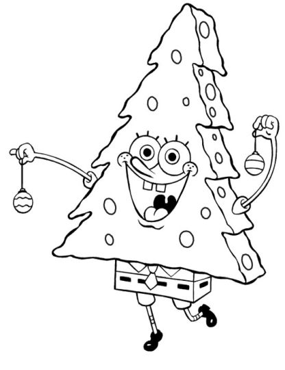 Spongebob Christmas Coloring Pages 69