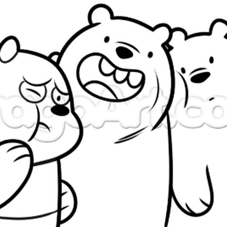 We Bare Bears Coloring Pages 10
