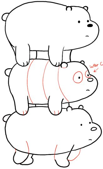 We Bare Bears Coloring Pages 13