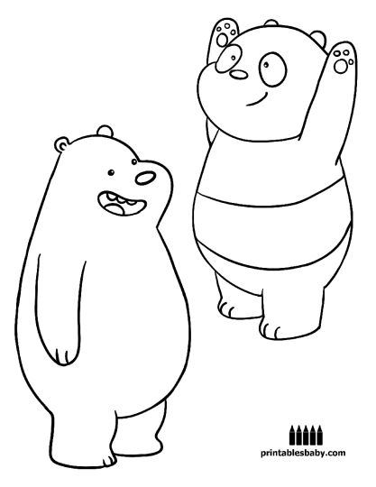 We Bare Bears Coloring Pages - Part 2