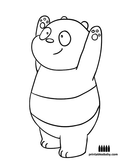We Bare Bears Coloring Pages 18