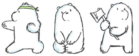 We Bare Bears Coloring Pages 21