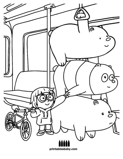 We Bare Bears Coloring Pages - Part 3