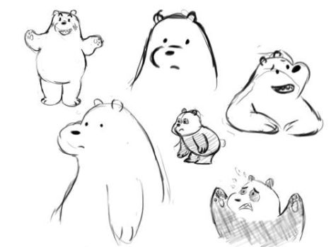 We Bare Bears Coloring Pages 23