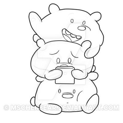 We Bare Bears Coloring Pages Part 3