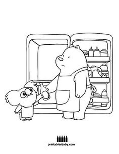 We Bare Bears Coloring Pages 27
