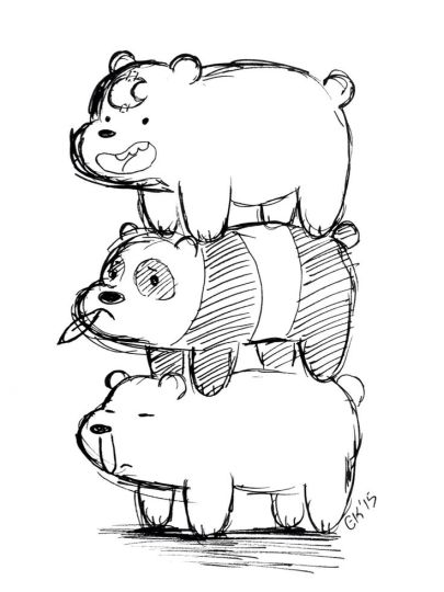 We Bare Bears Coloring Pages 29