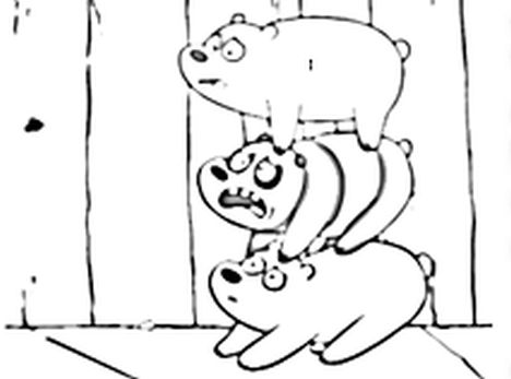 We Bare Bears Coloring Pages 4
